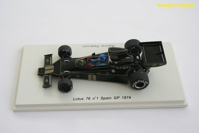 Peterson, Lotus 76, Spanish GP, 1974