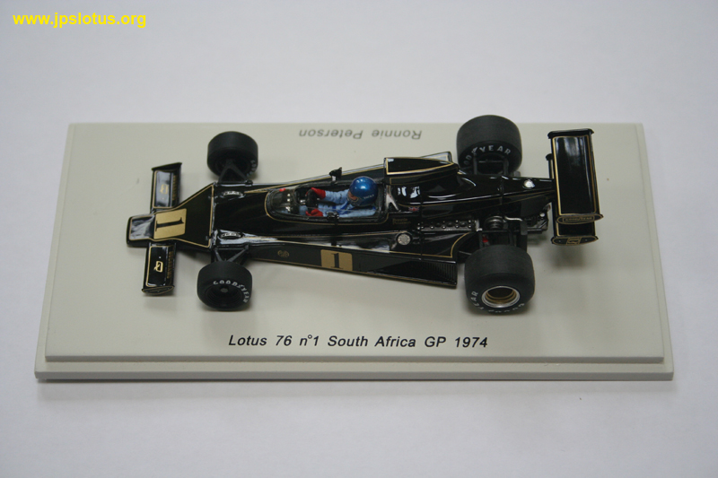 Peterson, Lotus 76, South Africa GP, 1974