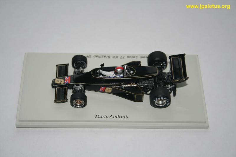 Andretti, Lotus 77, Brazilian GP, 1976