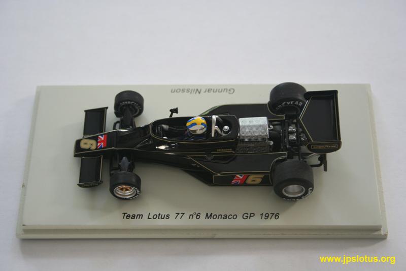 Nilsson, Lotus 77, Monaco GP, 1976