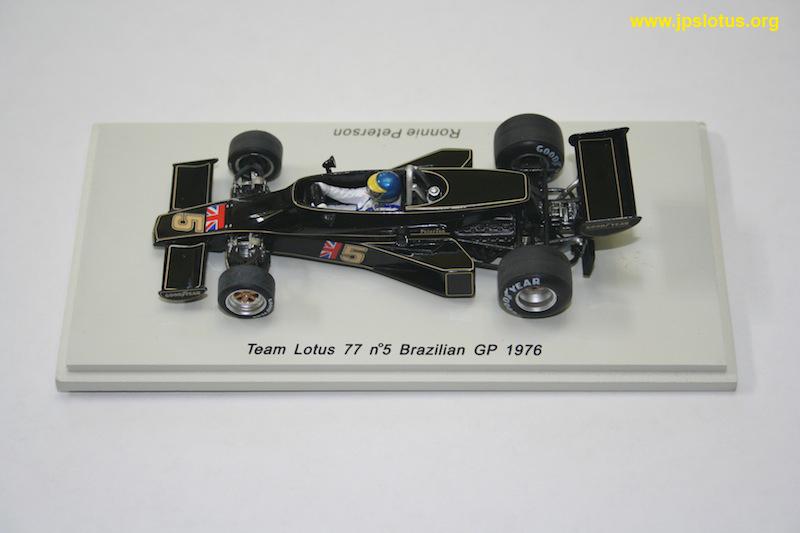 Peterson, Lotus 77, Brazilian GP, 1976