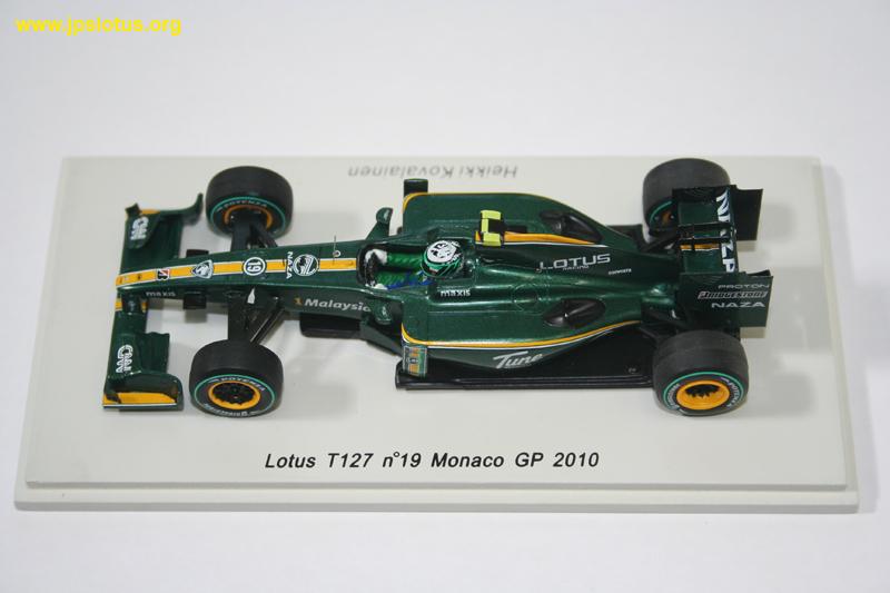 Kovalainen, Lotus T127, Monaco GP, 2010