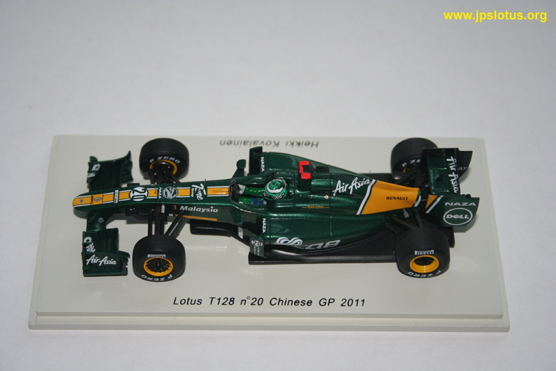 Kovalainen, Lotus T128, Chinese GP, 2011